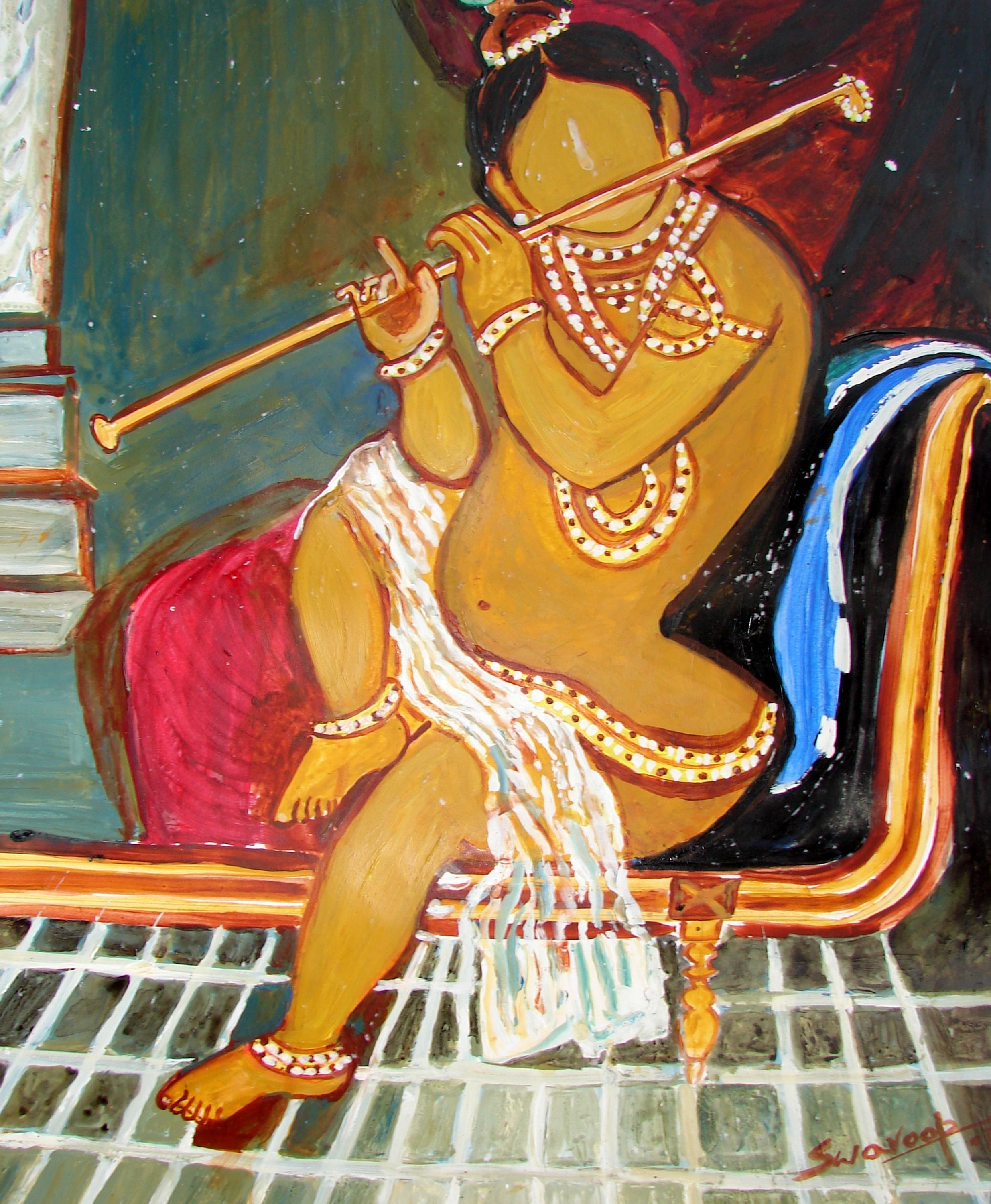 KRISHNA PLAYING FLUITE