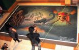 Top View of Pirates of the caribbean Rangoli