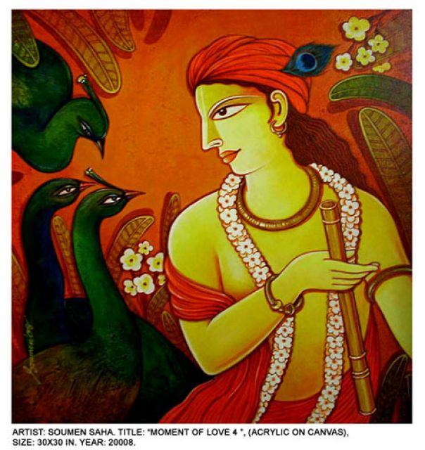 Krishna paintings on canvas