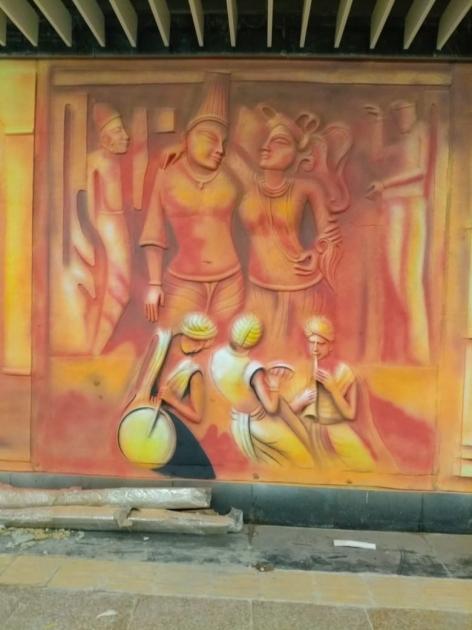 Frp resin mural