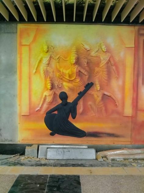 Fiber glass Relief Mural
