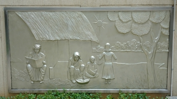 Fibre glass mural