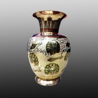 Meenakari brass flower vase