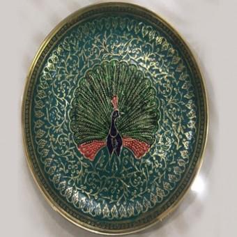 Meenakari brass metal plate