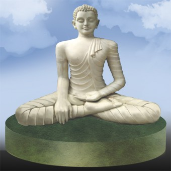 Fiber glass buddha statue