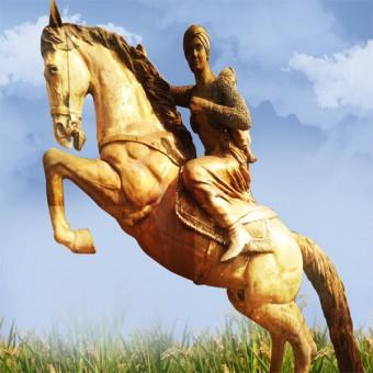 Rani lakshmi bai statue
